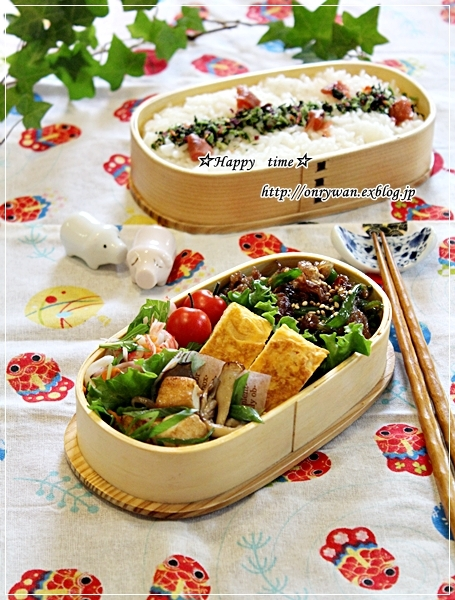 牛肉の甘辛炒め弁当と鉄板イタリアン・常備菜作り♪_f0348032_17553928.jpg