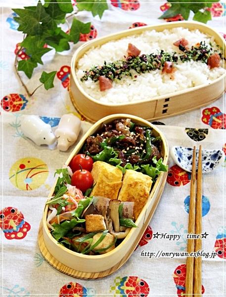 牛肉の甘辛炒め弁当と鉄板イタリアン・常備菜作り♪_f0348032_17555431.jpg