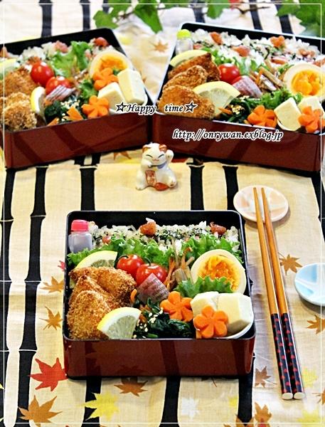 サーモンフライ弁当とカンパーニュ♪_f0348032_18392573.jpg