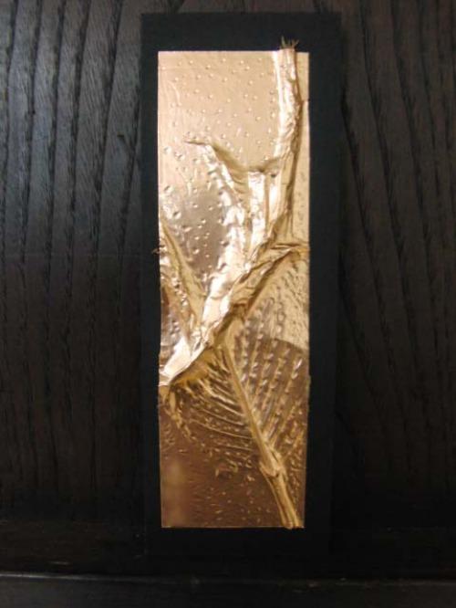 レリーフ ~ 落ち葉の銅箔レリーフ ~_e0222340_19102636.jpg