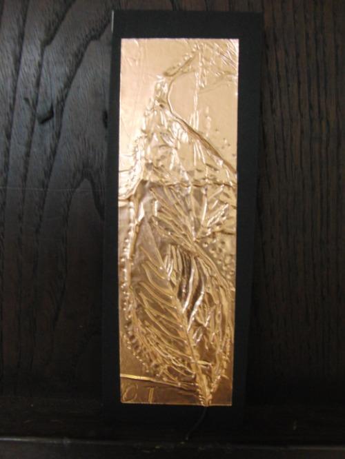 レリーフ ~ 落ち葉の銅箔レリーフ ~_e0222340_1910486.jpg