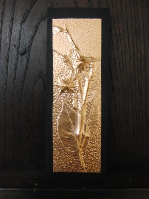 レリーフ ~ 落ち葉の銅箔レリーフ ~_e0222340_19123450.jpg