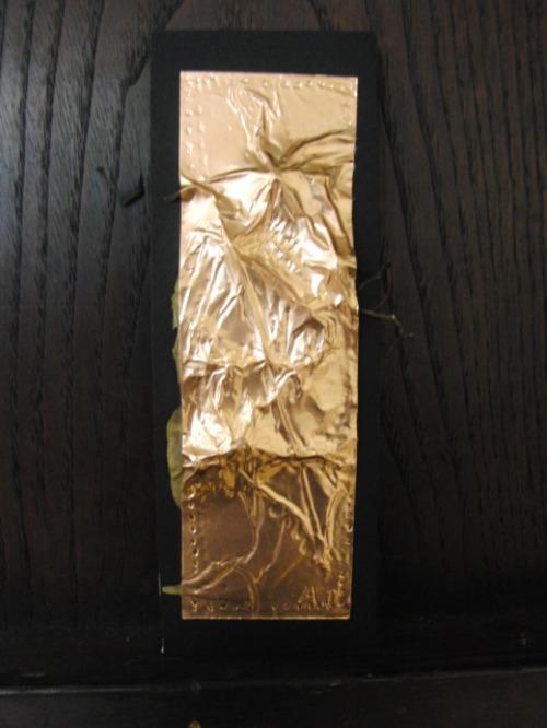 レリーフ ~ 落ち葉の銅箔レリーフ ~_e0222340_1951981.jpg