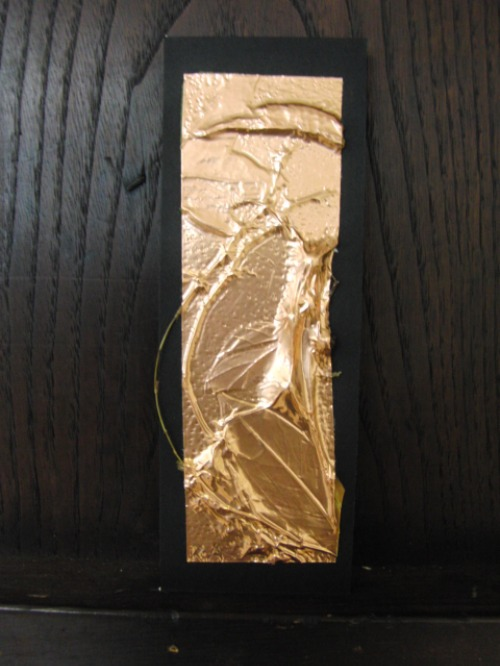レリーフ ~ 落ち葉の銅箔レリーフ ~_e0222340_197644.jpg
