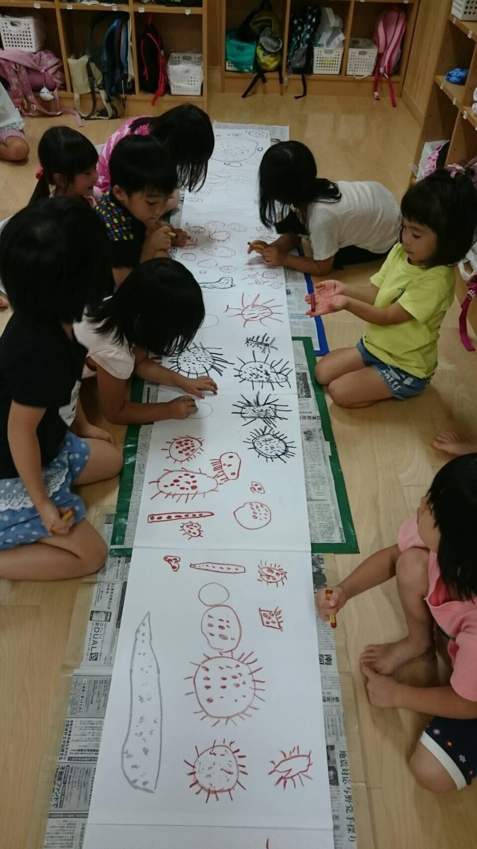 4歳児 らいおん組  お芋掘りの絵を描いたよ_c0151262_21374135.jpg