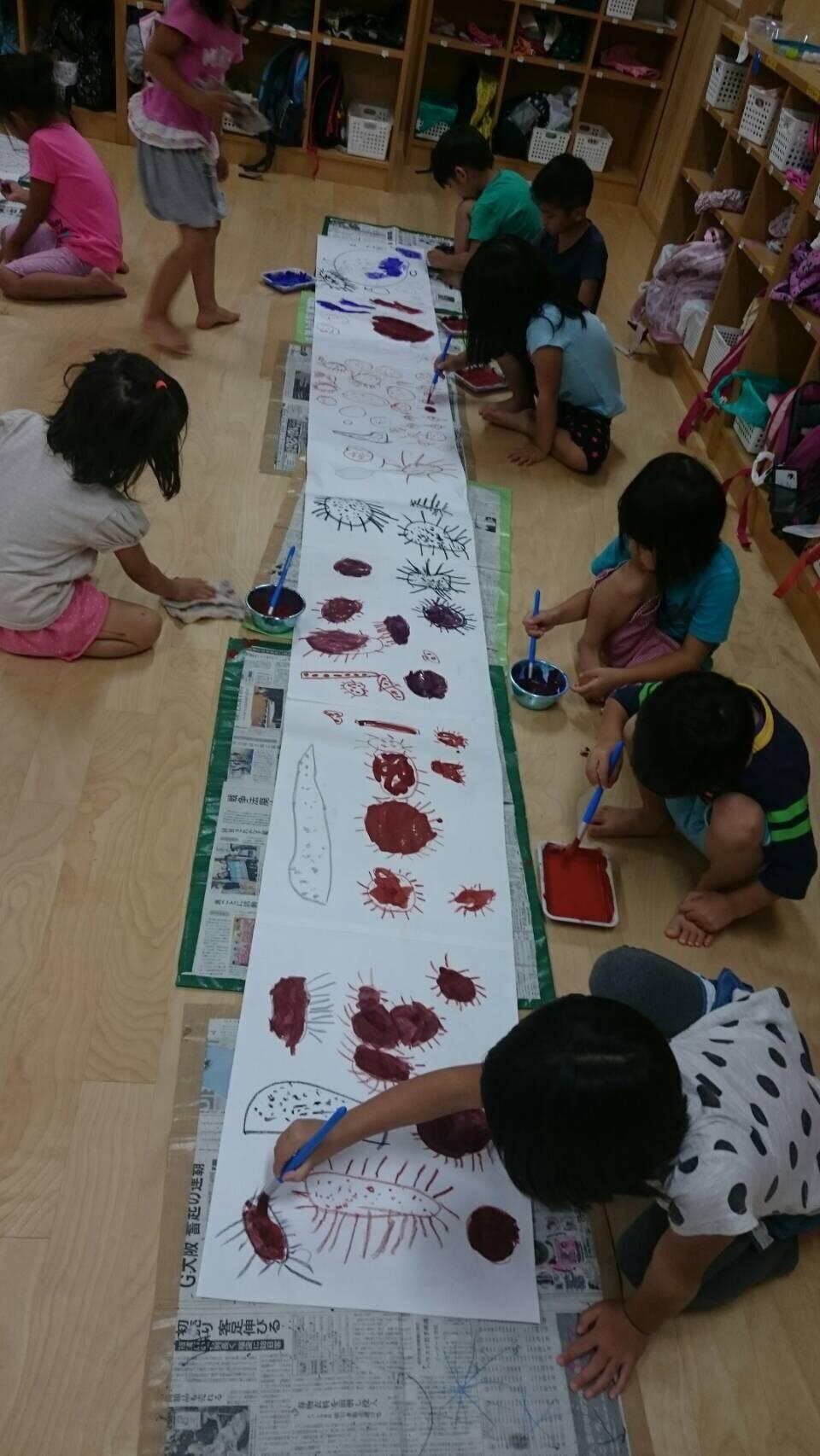 4歳児 らいおん組  お芋掘りの絵を描いたよ_c0151262_21380459.jpg