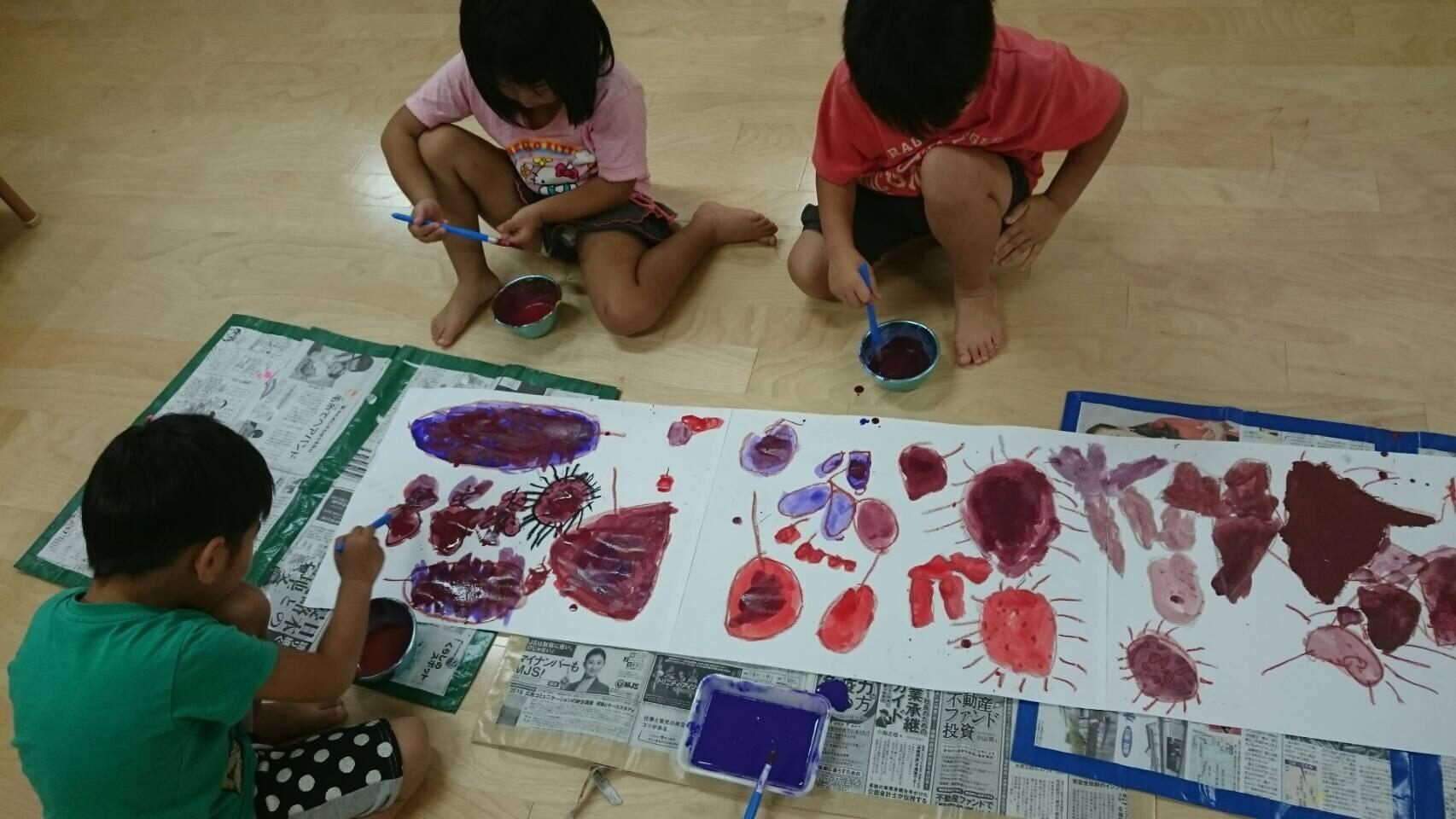4歳児 らいおん組  お芋掘りの絵を描いたよ_c0151262_21382553.jpg
