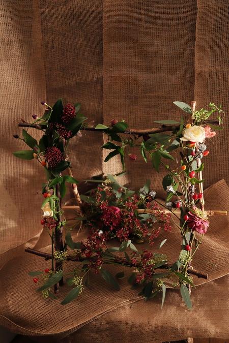 一会定期スクール10月、秋の実もののウェルカムボード装花とブーケ_a0042928_1814519.jpg