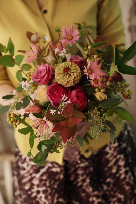 一会定期スクール10月、秋の実もののウェルカムボード装花とブーケ_a0042928_18174883.jpg