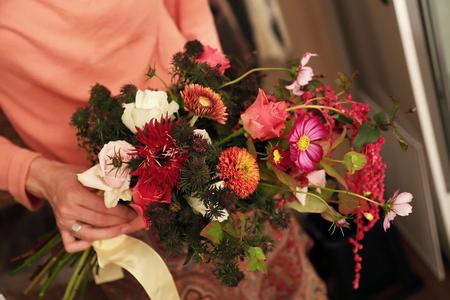一会定期スクール10月、秋の実もののウェルカムボード装花とブーケ_a0042928_18183361.jpg