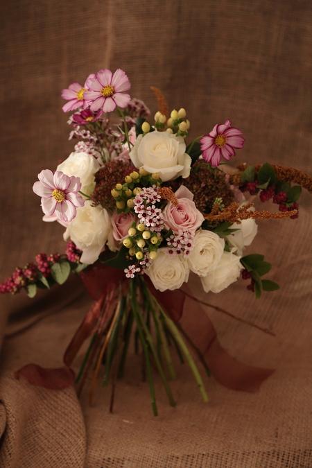 一会定期スクール10月、秋の実もののウェルカムボード装花とブーケ_a0042928_1822359.jpg