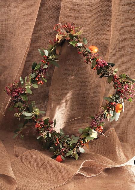 一会定期スクール10月、秋の実もののウェルカムボード装花とブーケ_a0042928_18242655.jpg