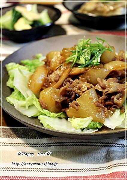 のり弁当と豚バラ大根のこってり炒め煮♪_f0348032_18392069.jpg
