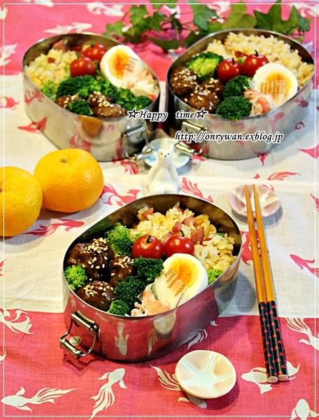 チャーハン弁当とライ麦入り角食♪_f0348032_18041645.jpg