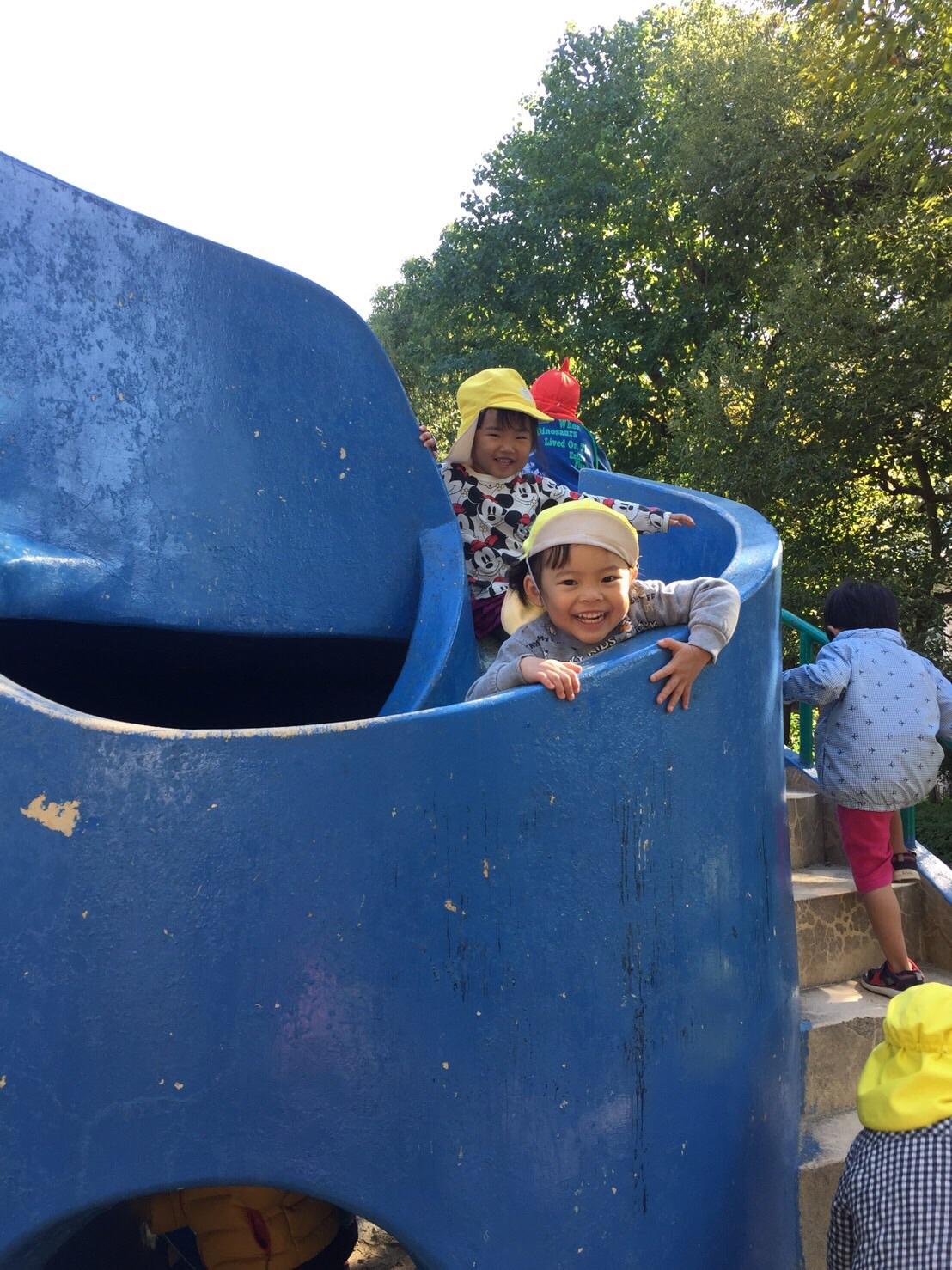 2・3歳児 くま・きりん組  どんぐり拾いへ_c0151262_12354499.jpg