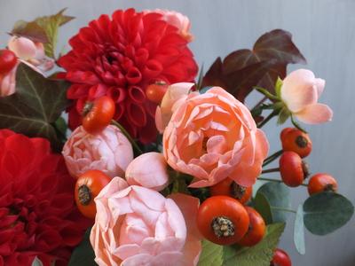 オークリーフ(赤っぽい花)_f0049672_14314910.jpg