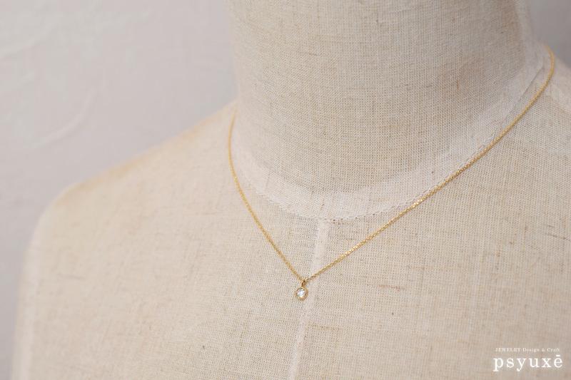 ローズカット・ダイアモンドとミルグレインのネックレス_e0131432_12032830.jpg