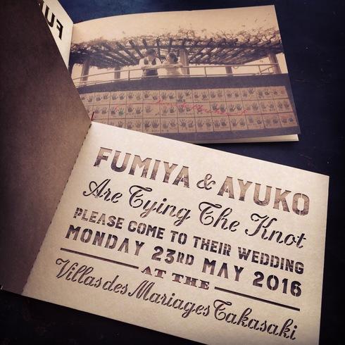 結婚式の招待状とフィルムの席札_d0095746_1351040.jpg