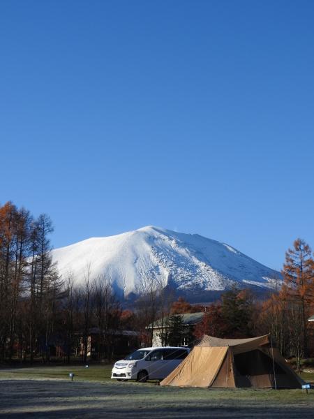 青空に映える浅間山_b0174425_18371168.jpg