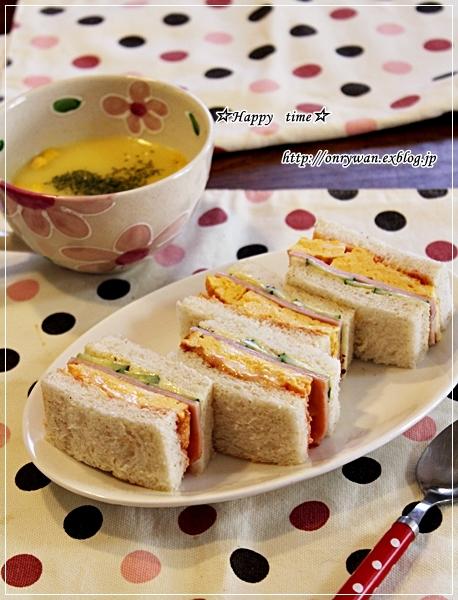 一口カツ弁当と玉子サンドとオム焼きそば♪_f0348032_17573825.jpg