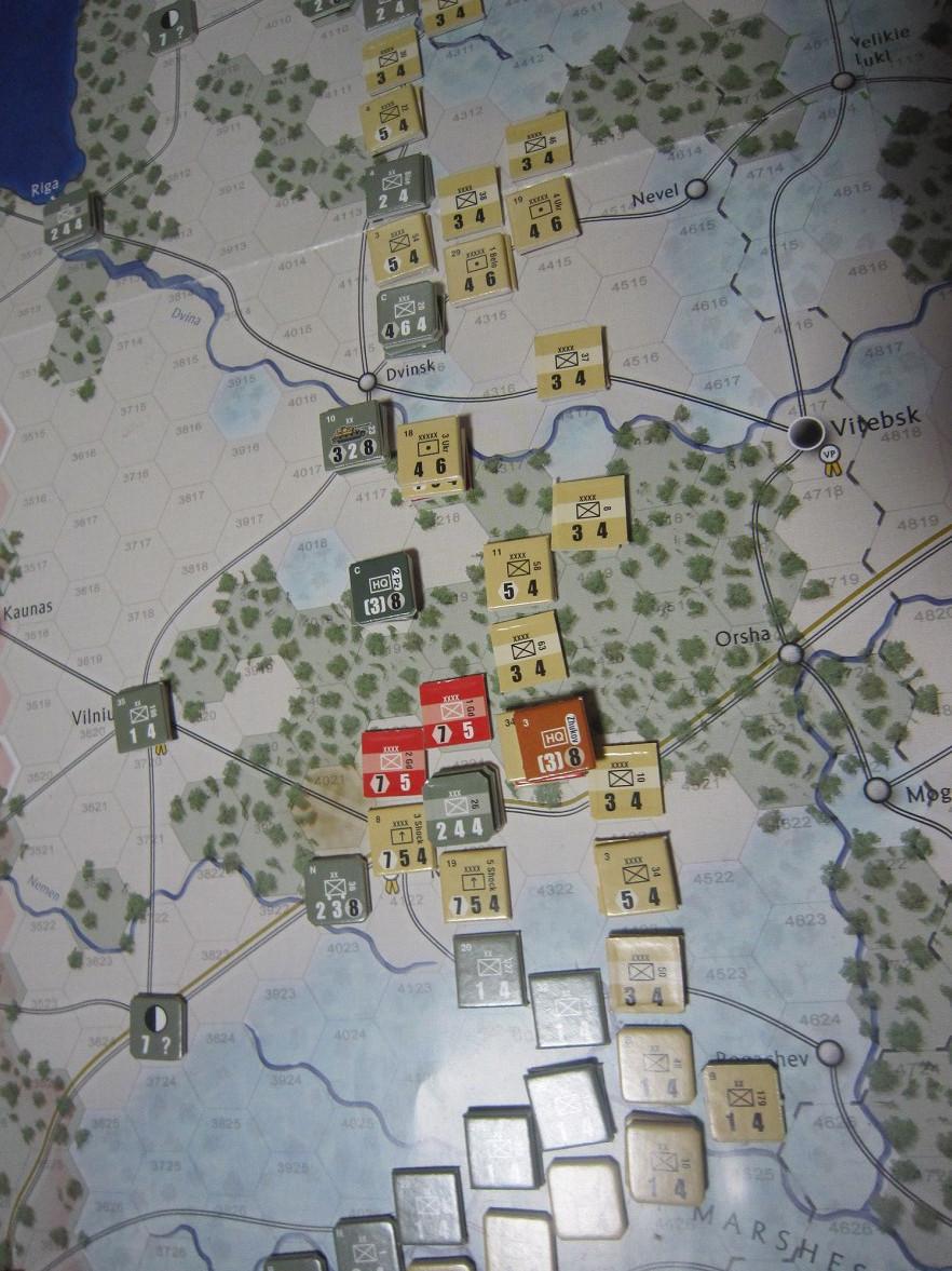 2年振りの再戦に備えて着々と準備は進む...(GMT)The Dark Valley  ダーク・ヴァレー 「バグラチオン:1944シナリオ」_b0173672_20580974.jpg
