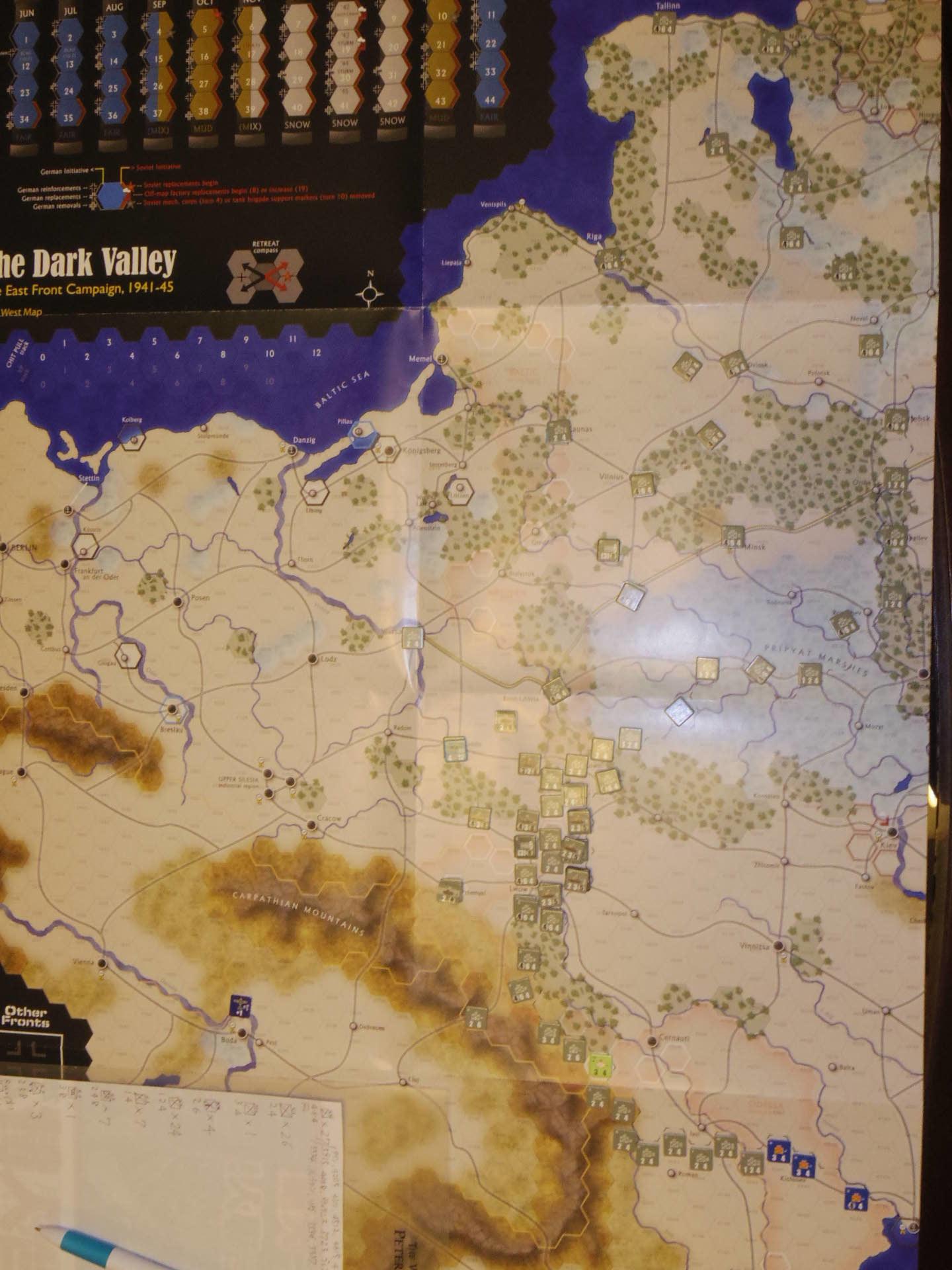 2年振りの再戦に備えて着々と準備は進む...(GMT)The Dark Valley  ダーク・ヴァレー 「バグラチオン:1944シナリオ」_b0173672_20581941.jpg