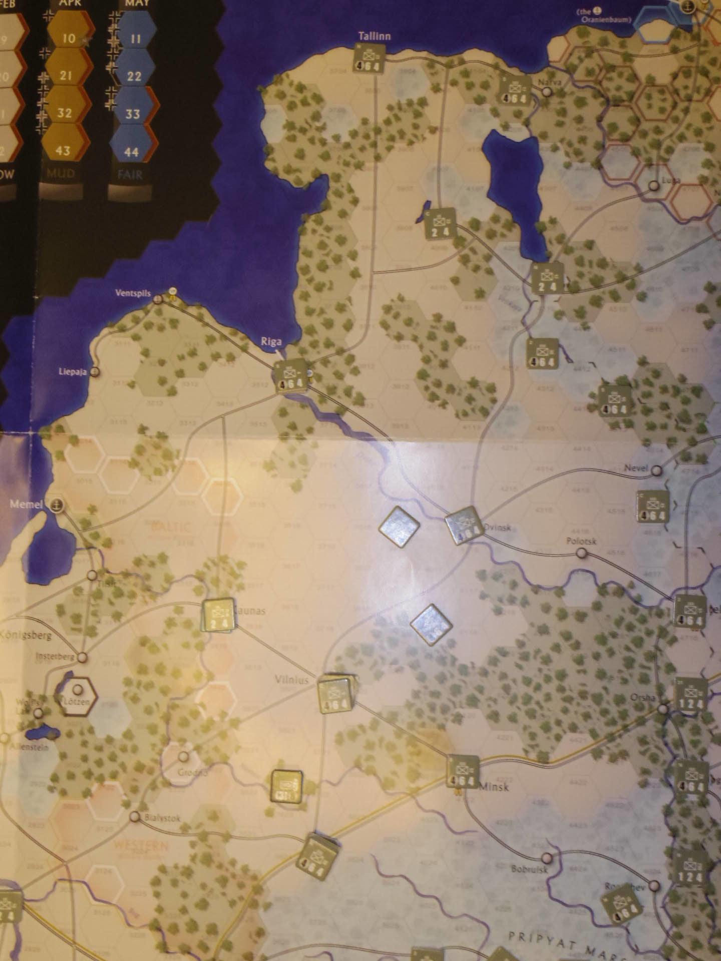 2年振りの再戦に備えて着々と準備は進む...(GMT)The Dark Valley  ダーク・ヴァレー 「バグラチオン:1944シナリオ」_b0173672_20582006.jpg