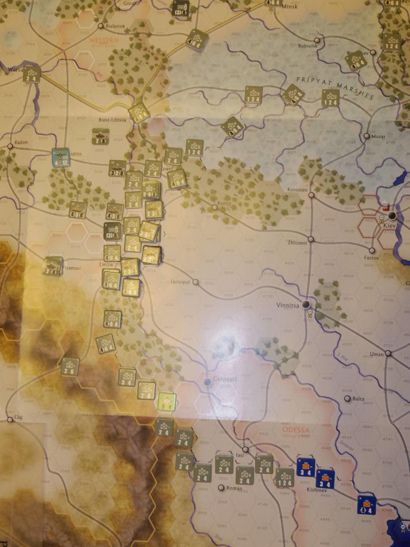 2年振りの再戦に備えて着々と準備は進む...(GMT)The Dark Valley  ダーク・ヴァレー 「バグラチオン:1944シナリオ」_b0173672_20582144.jpg