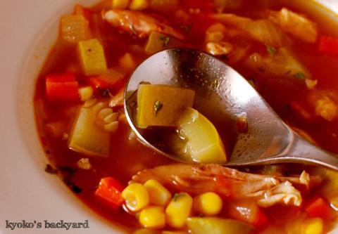 具だくさんのチキン&野菜スープ_b0253205_05392585.jpg