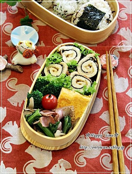 きつねと磯辺で肉巻きロール弁当と常備菜作り♪_f0348032_18125152.jpg