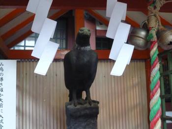 阿倍王子神社 御烏社の八咫烏さん_e0359436_23310914.jpg
