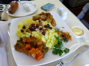 スリランカ*3 スリランカ航空ビジネスクラスの機内食はベジタリアンで_e0359436_23340665.jpg