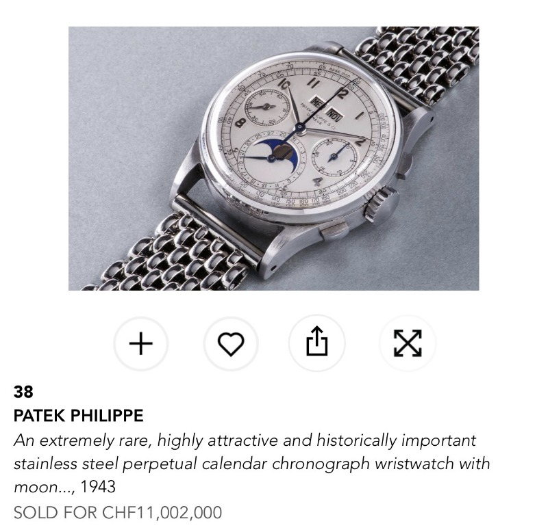 Broken the world record as wrist watch in a sold price for the Ref.1518A._c0128818_420575.jpg