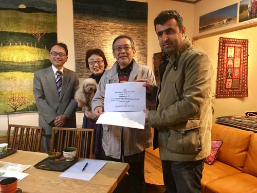 アフガニスタンに学校が完成しワヒドさんがお礼に来店されました❣️_a0071934_19342631.jpg