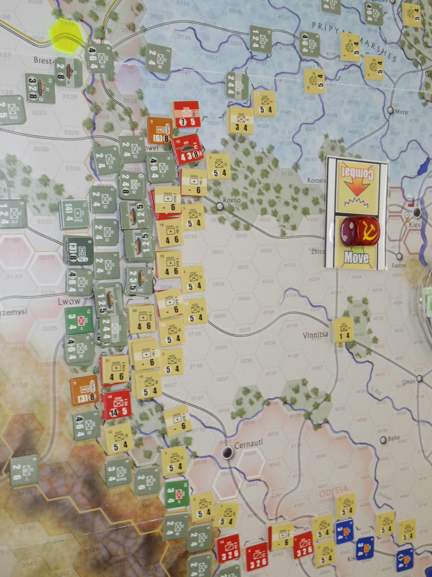 YSGA第329回定例会の様子その5〔(GMT)The Dark Valley  ダーク・ヴァレー 「バグラチオン:1944シナリオ」3人で全5ターン貫徹❶〕_b0173672_23530790.jpg