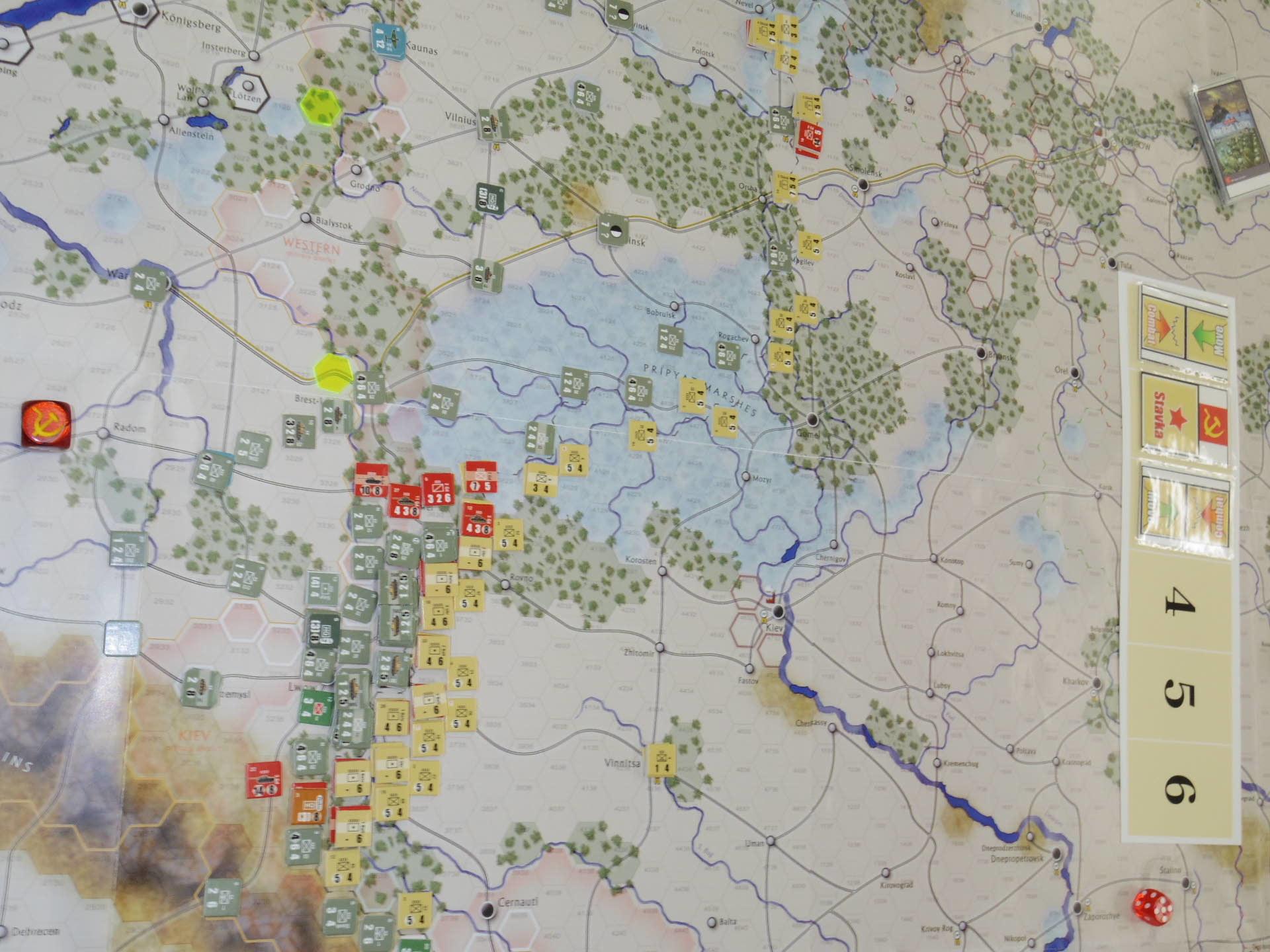 YSGA第329回定例会の様子その5〔(GMT)The Dark Valley  ダーク・ヴァレー 「バグラチオン:1944シナリオ」3人で全5ターン貫徹❶〕_b0173672_23530822.jpg
