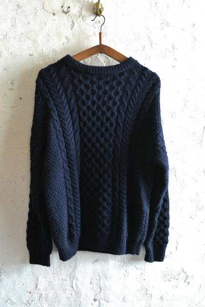 Irish Aran sweater over-dyed indigo color_f0226051_13353321.jpg