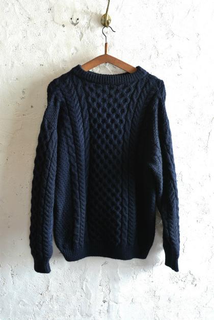 Irish Aran sweater over-dyed indigo color_f0226051_13354339.jpg
