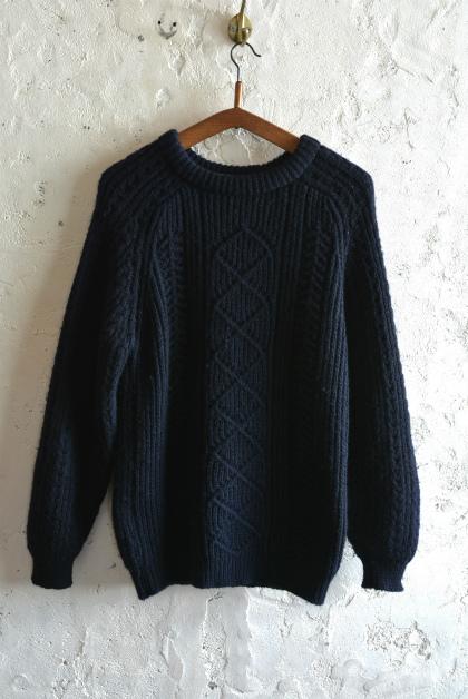Irish Aran sweater over-dyed indigo color_f0226051_13382883.jpg