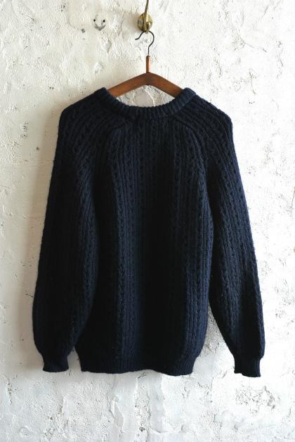 Irish Aran sweater over-dyed indigo color_f0226051_13383209.jpg