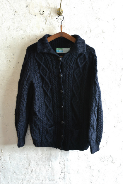 Irish Aran sweater over-dyed indigo color_f0226051_13410996.jpg