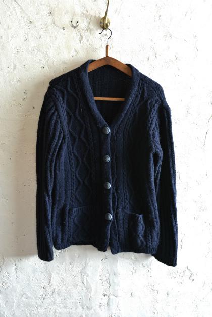 Irish Aran sweater over-dyed indigo color_f0226051_13433818.jpg