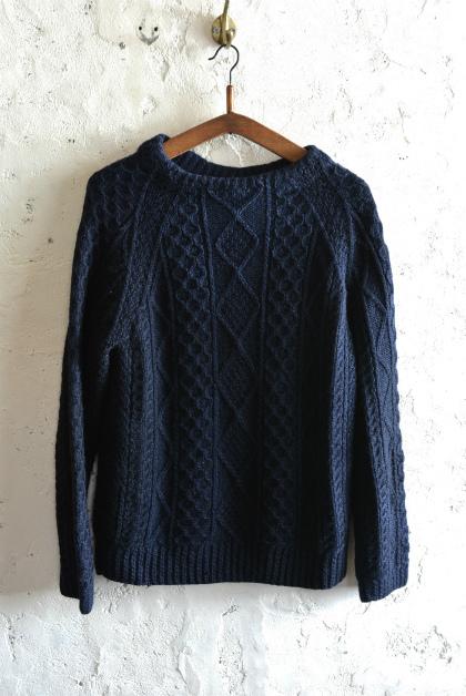 Irish Aran sweater over-dyed indigo color_f0226051_13454762.jpg