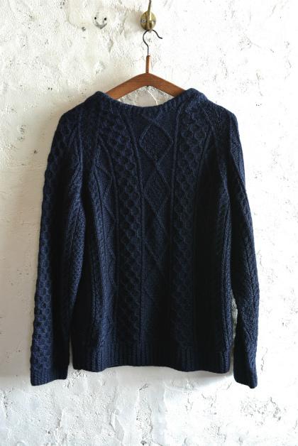 Irish Aran sweater over-dyed indigo color_f0226051_13455493.jpg