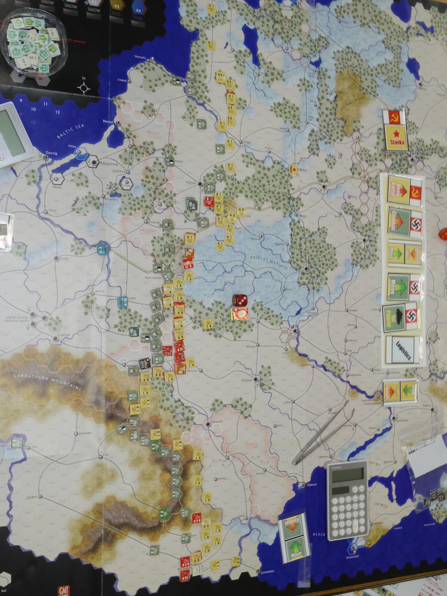 YSGA第329回定例会の様子その6〔(GMT)The Dark Valley  ダーク・ヴァレー 「バグラチオン:1944シナリオ」3人で全5ターン貫徹➋〕_b0173672_00001972.jpg