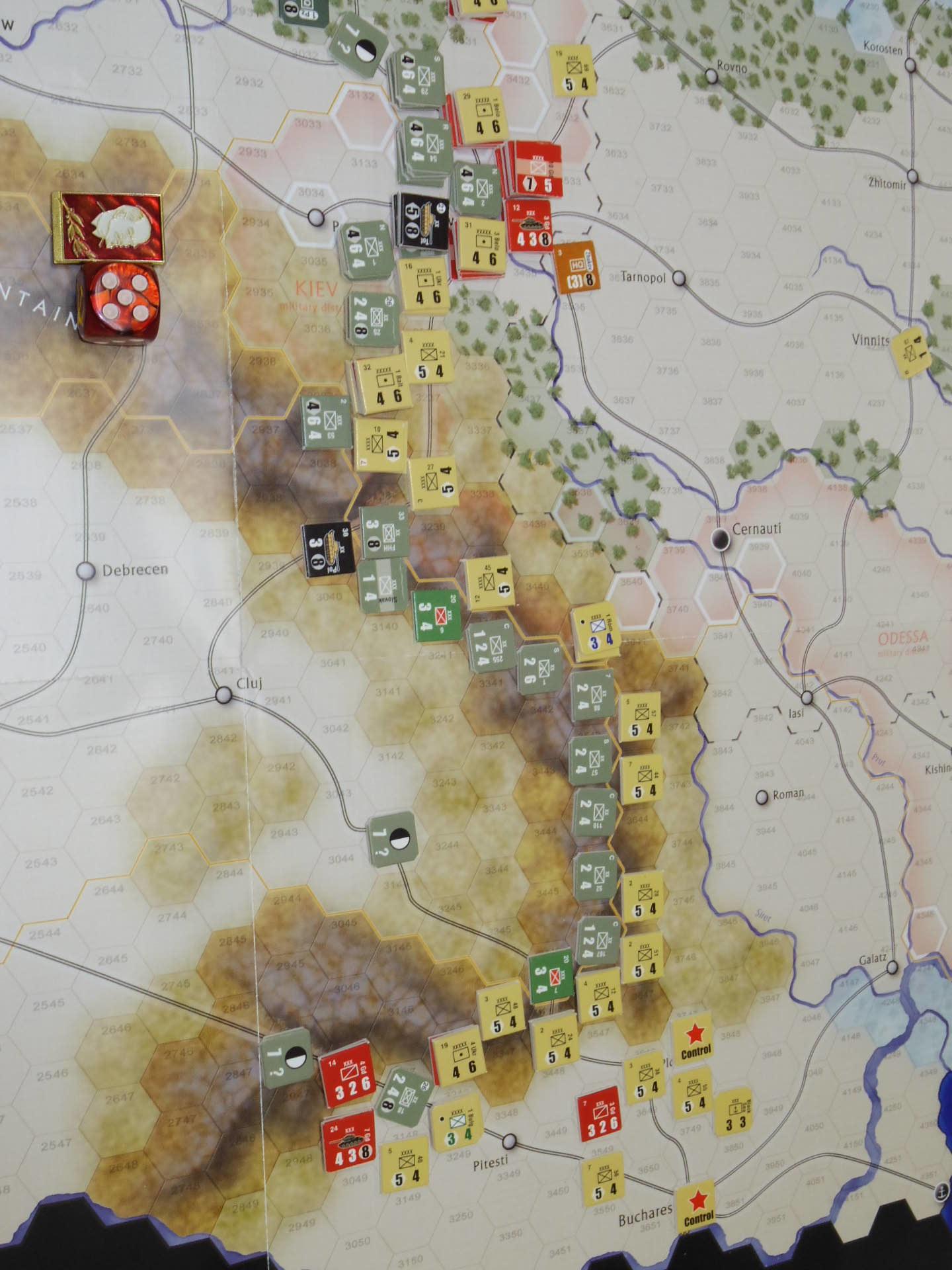YSGA第329回定例会の様子その6〔(GMT)The Dark Valley  ダーク・ヴァレー 「バグラチオン:1944シナリオ」3人で全5ターン貫徹➋〕_b0173672_00022810.jpg