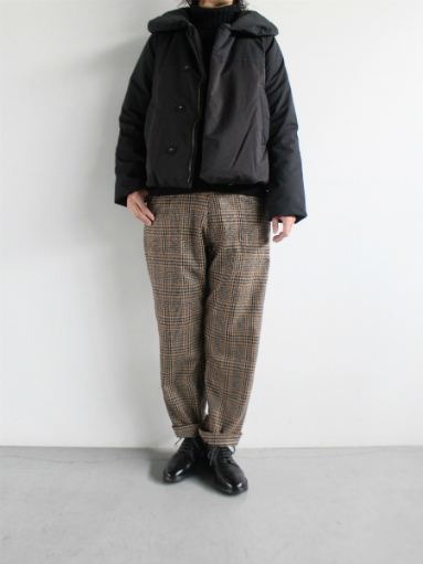 GRANDMA MAMA DAUGHTER WOOL RANCH PANTS / GLEN CHECK_b0139281_17111267.jpg