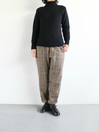 GRANDMA MAMA DAUGHTER WOOL RANCH PANTS / GLEN CHECK_b0139281_1711251.jpg