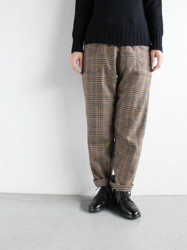 GRANDMA MAMA DAUGHTER WOOL RANCH PANTS / GLEN CHECK_b0139281_1713911.jpg