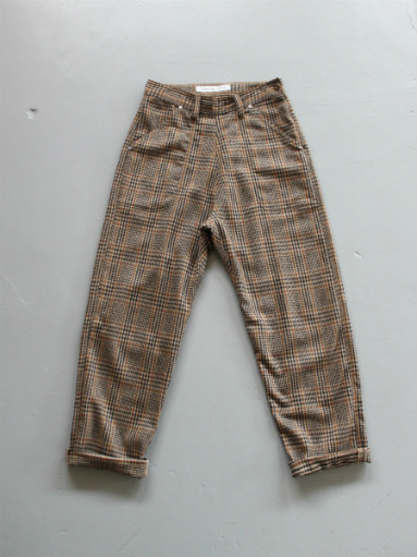 GRANDMA MAMA DAUGHTER WOOL RANCH PANTS / GLEN CHECK_b0139281_172596.jpg